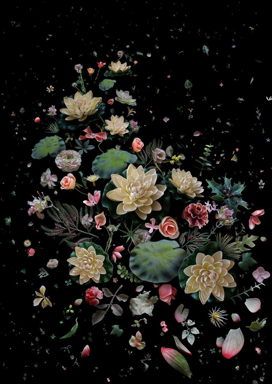 一系列在自然界花期不一,並且不應生於海中的人工花朵。蓮花早在三千年前的《詩經國風》中,就跟美麗拉上關係。《詩經》關注自然與日常生活中的美,就是本圖像希望傳達的信息。  包括:蓮花、葉與花瓣、牡丹、康乃馨、玫瑰、櫻花、冬青、蕨類、蓖麻及長春藤葉。  (人工花朵:過去三年於香港不同海灘的收集系列)
