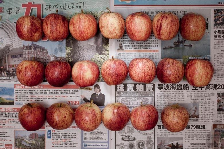 蘋果。來自《貧窮線- 香港》系列