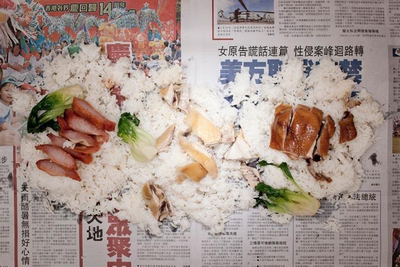 燒味飯。來自《貧窮線- 香港》系列