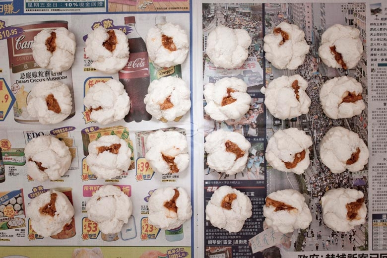 叉燒包。來自《貧窮線- 香港》系列